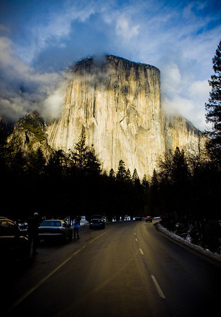 "I've never seen El Capitan looking as potent as it was when we pulled into the park on this day. Was one of those ""wow!"" moments for me. The clouds and lighting were fleeting. Fortunately, I got the image in time."