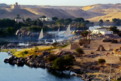 Falluca Trio.  (Nile River in Aswan, Egypt. 2006)